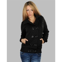 ELEGANT JACKET DIAMOND-PATTERNED BLACK