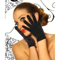 ELEGANT VELVET GLOVES BLACK