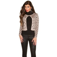 ELEGANT FINE-KNITTED CARDIGAN JACKET WITH POLKA DOTS...