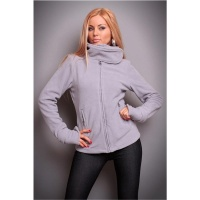 ELEGANT FLEECE JACKET WITH ZIPPER GREY