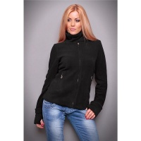 ELEGANT FLEECE JACKET WITH ZIPPER BLACK UK 14 (XL)
