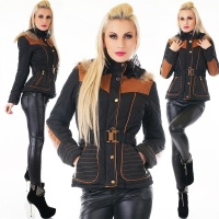 ELEGANT LADIES WINTER JACKET WITH HOOD INCL. BELT...
