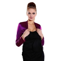 ELEGANT BOLERO MADE OF SHINY SATIN DARK PURPLE