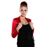 ELEGANT BOLERO MADE OF SHINY SATIN RED UK 10 (M)