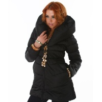 EXCLUSIVE QUILTED JACKET WINTER COAT BLACK