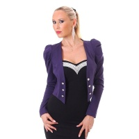 ELEGANT LONG-SLEEVED EVENING BOLERO LITTLE JACKET PURPLE Onesize (UK 10/12)
