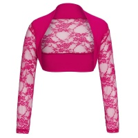 ELEGANT LACE BOLERO WITH LONG SLEEVES FUCHSIA
