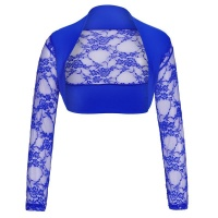 ELEGANT LACE BOLERO WITH LONG SLEEVES ROYAL BLUE