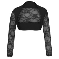 ELEGANT LACE BOLERO WITH LONG SLEEVES BLACK