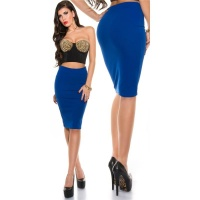 ELEGANT PENCIL STRETCH SKIRT ROYAL BLUE UK 12/14 (L)