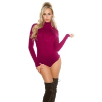 ELEGANT RIB-KNITTED BODY SWEATER JUMPER WITH TURTLENECK...