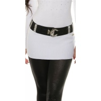 ELEGANT WOMEN`S STRETCH BELT WITH LOTS OF RHINESTONES BLACK