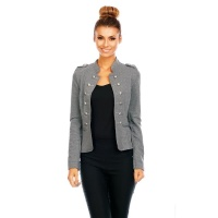 ELEGANTER TAILLIERTER BLAZER DAMENJACKE IN MILITARY-LOOK...