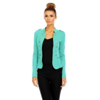 ELEGANT SLIM-FITTED LADIES BLAZER JACKET IN MILITARY-LOOK...