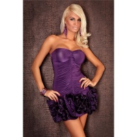 ELEGANT BANDEAU EVENING DRESS PURPLE