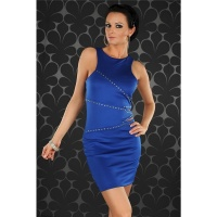 ELEGANT EVENING DRESS MINIDRESS WITH RIVETS BLUE