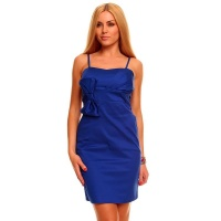 ELEGANT EVENING DRESS SHEATH DRESS WITH BOW ROYAL BLUE