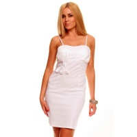 ELEGANT EVENING DRESS SHEATH DRESS WITH BOW WHITE