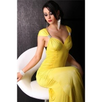 GLAMOROUS EVENING DRESS YELLOW