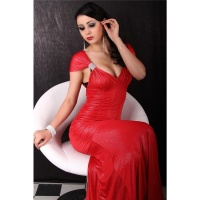 GLAMOROUS EVENING DRESS RED