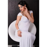 GLAMOROUS EVENING DRESS WHITE