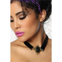 ELEGANT GOTHIC NECKBAND MADE OF VELVET BLACK