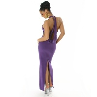 ELEGANT HALTERNECK EVENING DRESS PURPLE