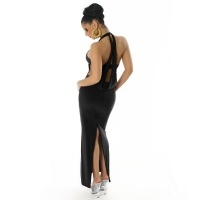 ELEGANT HALTERNECK EVENING DRESS BLACK