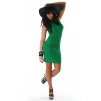 ELEGANT LONG KNITTED DRESS GREEN