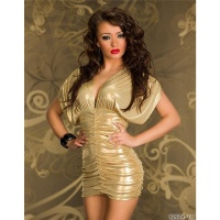 ELEGANT SHINING MINI DRESS PARTY DRESS GOLD