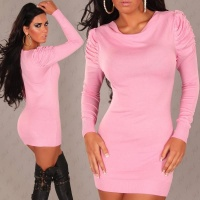 ELEGANT KNITTED MINIDRESS PINK