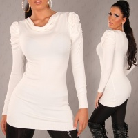 ELEGANT KNITTED MINIDRESS WHITE