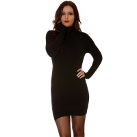 ELEGANT FINE-KNITTED MINIDRESS/LONG SWEATER WITH TURTLE...