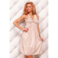 ELEGANT STRAP DRESS EVENING DRESS BEIGE