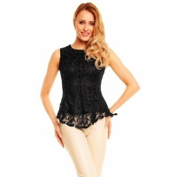PRECIOUS STRAPPY TOP WITH VERY CLASSY LACE BLACK