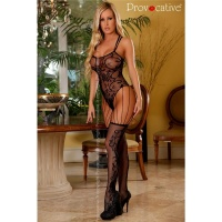 EROTIC FISHNET BODYSTOCKING CATSUIT GOGO LINGERIE BLACK Onesize (UK 8,10,12)