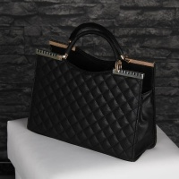 EXCLUSIVE HANDBAG SLING BAG STITCHED IMITATION LEATHER BLACK