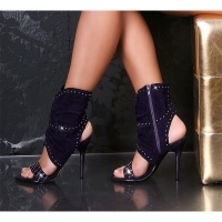EXCLUSIVE SANDALS WITH METAL BEADS PURPLE