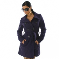 EXCLUSIVE COAT TRENCHCOAT PURPLE UK 12 (L)