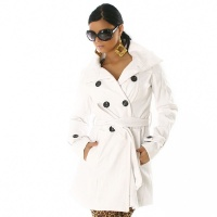 EXCLUSIVE COAT TRENCHCOAT WHITE UK 8 (S)