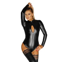 EXKLUSIVER NOIR HANDMADE LANGARM BODY WETLOOK MIT ZIPPER...