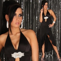 EXCLUSIVE LATINO DRESS WITH LOOP BLACK Onesize (UK 8,10,12)