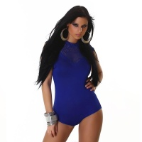 FEMININE BODY WITH LACE ROYAL BLUE Onesize (UK 8,10,12)