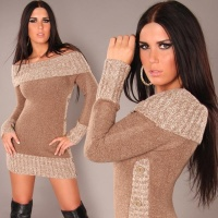 FLEECY CARMEN-SWEATER CAPPUCCINO