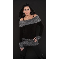 FLEECY CARMEN SWEATER BLACK L/XL (UK 12/14)