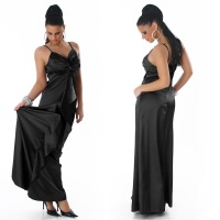 GLAMOUR GALA SATIN EVENING DRESS BLACK UK 10