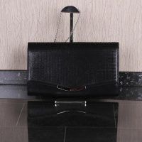 LARGE CLUTCH BAG WITH GLITTER AND CHAIN STRAP BLACK