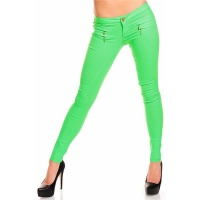 LOUD SKINNY STRETCH DRAINPIPE PANTS NEON-GREEN