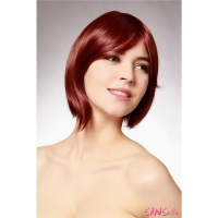 SHORT WIG WITH FRINGE STRAIGHT 28 CM LENGTH MAROON