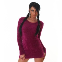 SOFT AND CUDDLY SWEATER LONG SWEATER SILK VIOLET